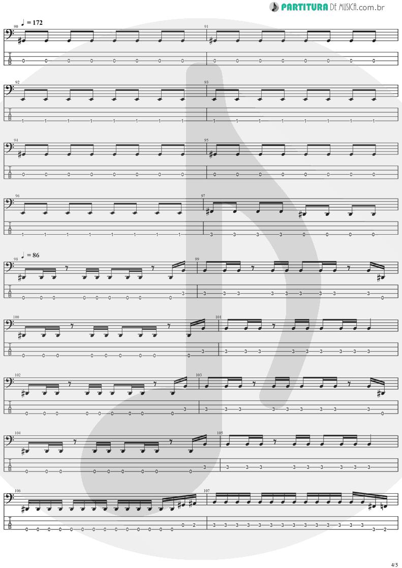 Tablatura + Partitura de musica de Baixo Elétrico - The Abyss Of Your Eyes | Stratovarius | Visions 1997 - pag 4