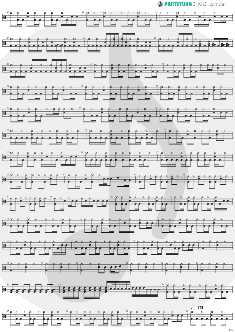 Partitura de musica de Bateria - The Abyss Of Your Eyes | Stratovarius | Visions 1997 - pag 2