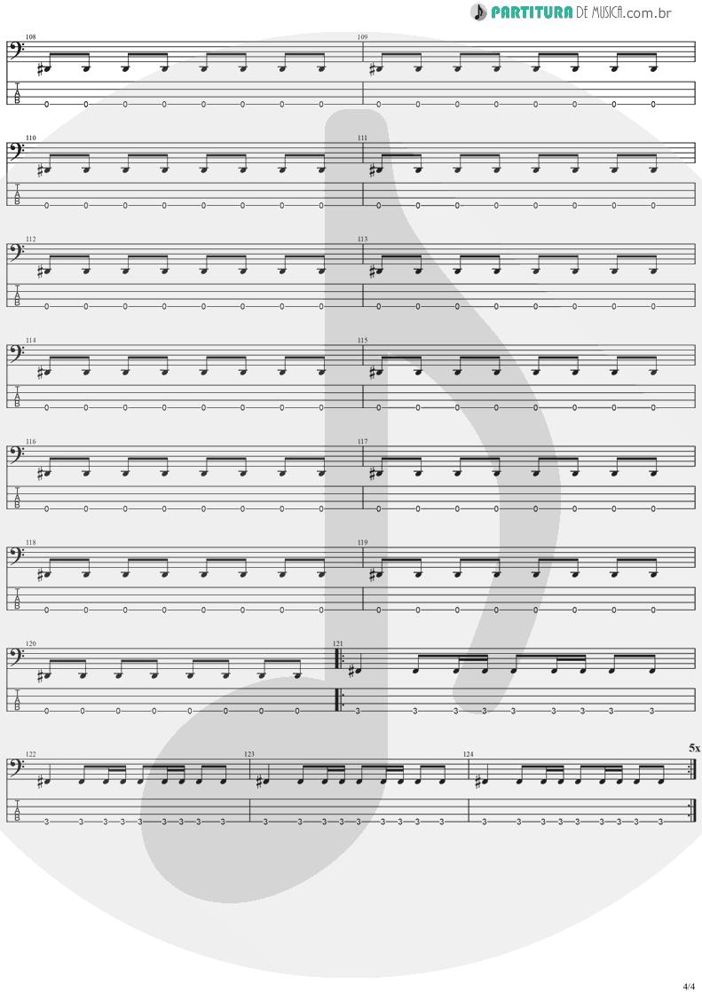 Tablatura + Partitura de musica de Baixo Elétrico - The Kiss Of Judas | Stratovarius | Visions 1997 - pag 4