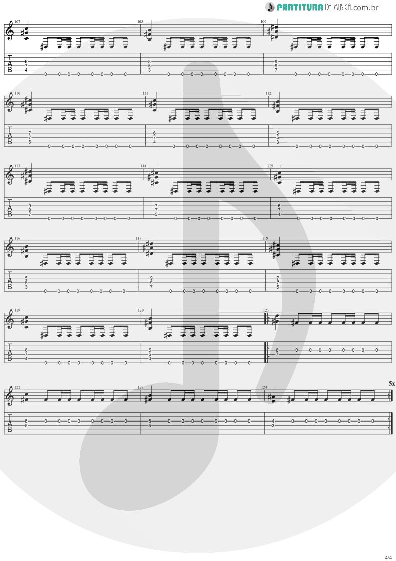 Tablatura + Partitura de musica de Guitarra Elétrica - The Kiss Of Judas | Stratovarius | Visions 1997 - pag 4