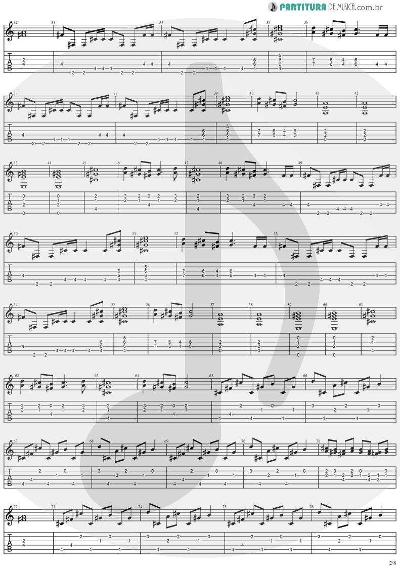 Tablatura + Partitura de musica de Guitarra Elétrica - Visions | Stratovarius | Visions 1997 - pag 2