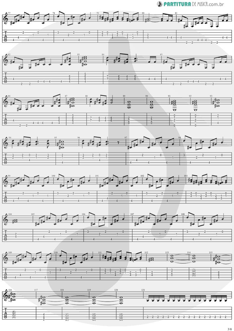 Tablatura + Partitura de musica de Guitarra Elétrica - Visions | Stratovarius | Visions 1997 - pag 3