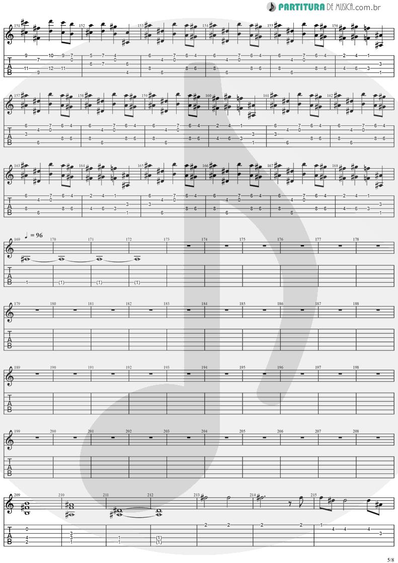 Tablatura + Partitura de musica de Guitarra Elétrica - Visions | Stratovarius | Visions 1997 - pag 5