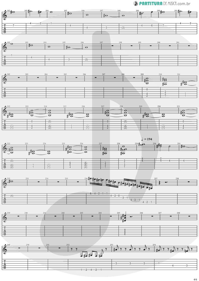 Tablatura + Partitura de musica de Guitarra Elétrica - Visions | Stratovarius | Visions 1997 - pag 4