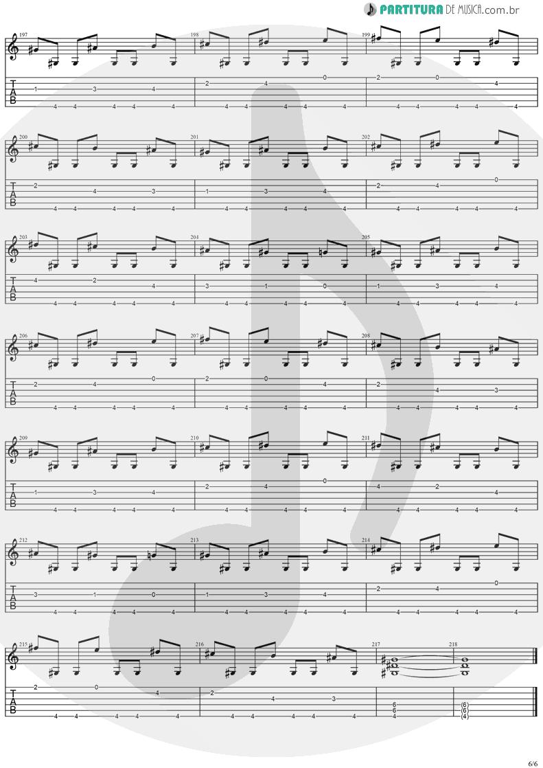 Tablatura + Partitura de musica de Guitarra Elétrica - Cold Winter Nights | Stratovarius | Destiny 1998 - pag 6