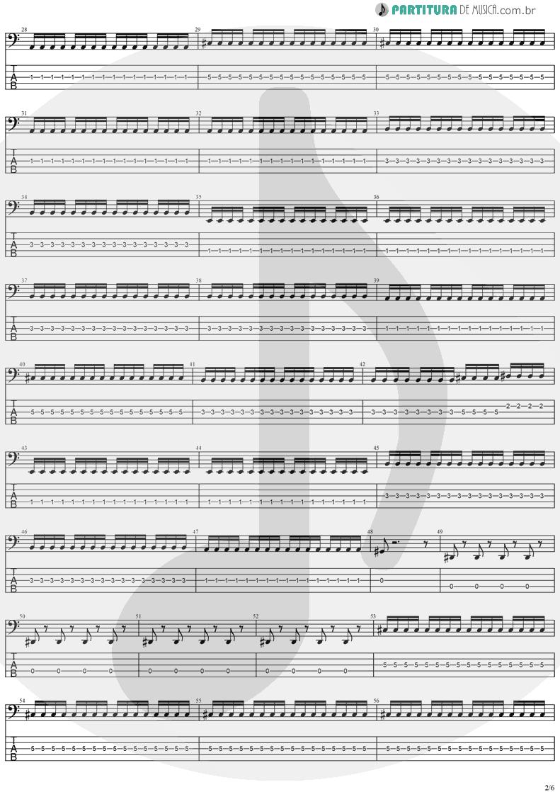 Tablatura + Partitura de musica de Baixo Elétrico - No Turning Back | Stratovarius | Destiny 1998 - pag 2