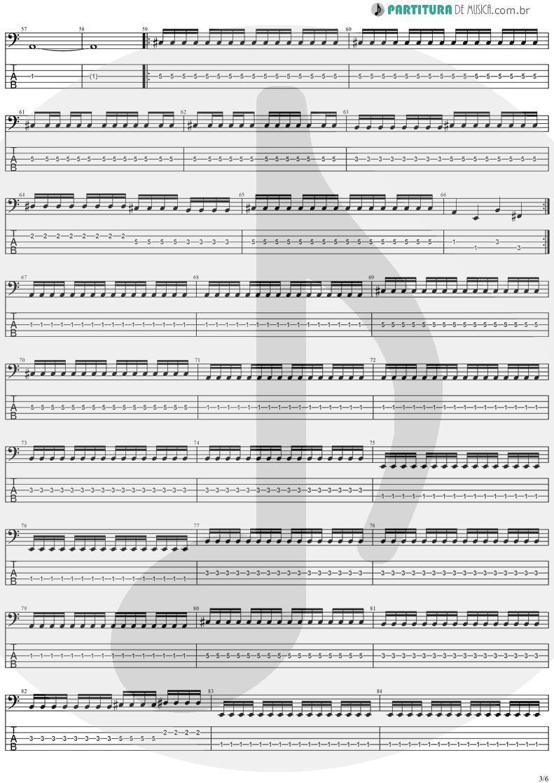 Tablatura + Partitura de musica de Baixo Elétrico - No Turning Back | Stratovarius | Destiny 1998 - pag 3