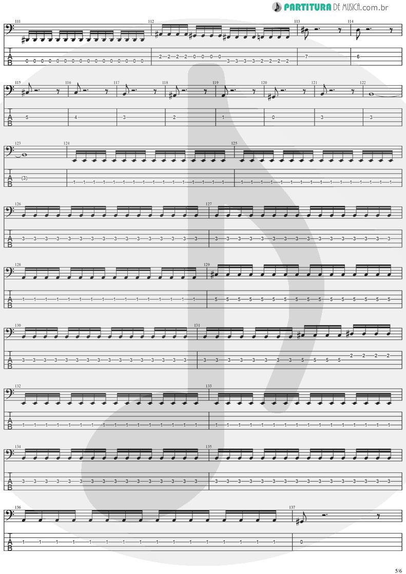 Tablatura + Partitura de musica de Baixo Elétrico - No Turning Back | Stratovarius | Destiny 1998 - pag 5