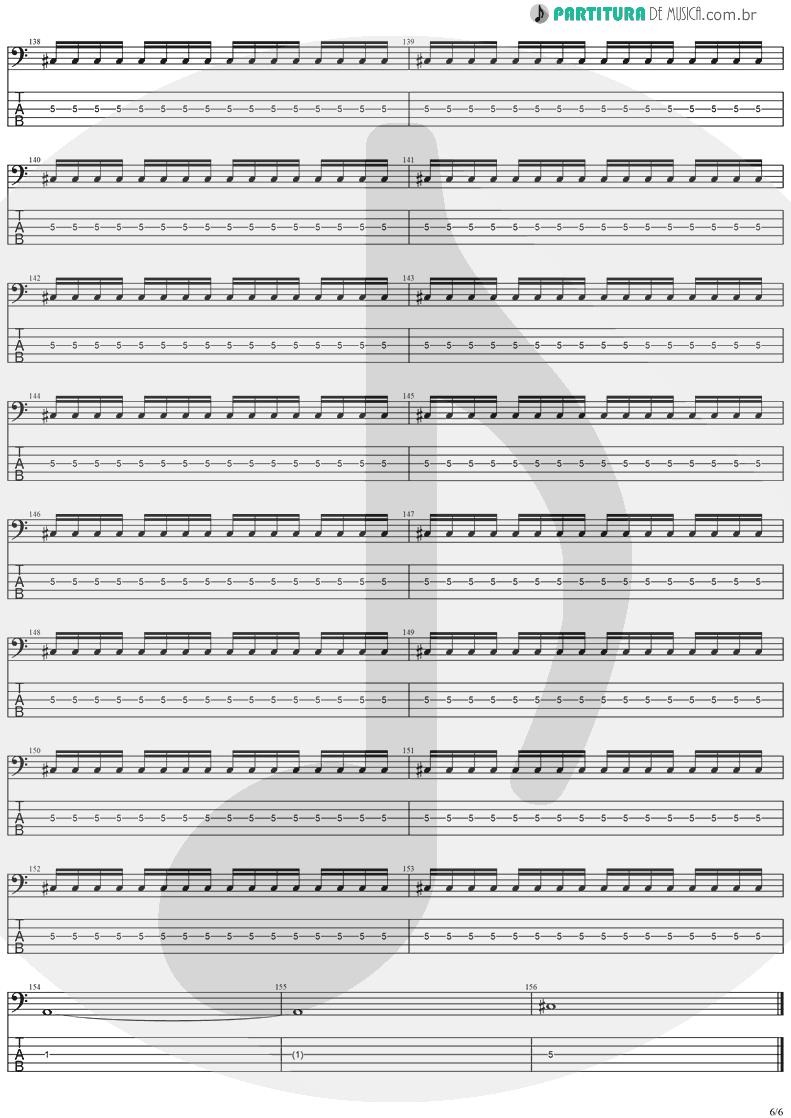 Tablatura + Partitura de musica de Baixo Elétrico - No Turning Back | Stratovarius | Destiny 1998 - pag 6