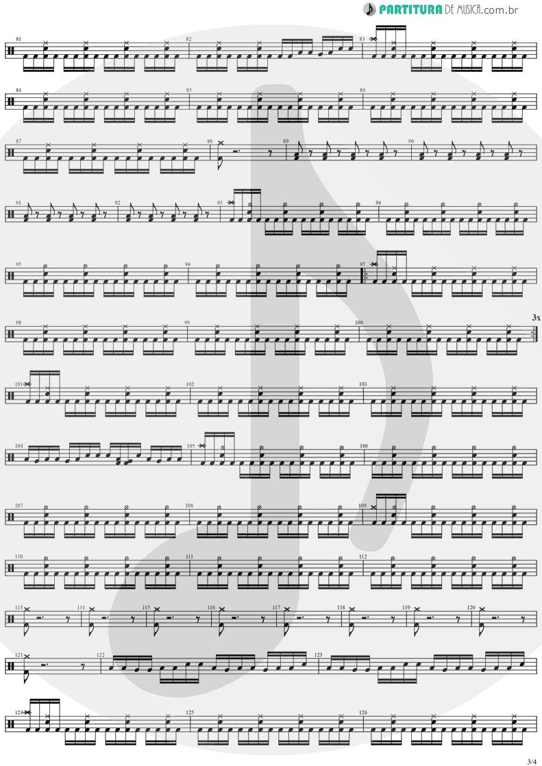 Partitura de musica de Bateria - No Turning Back | Stratovarius | Destiny 1998 - pag 3