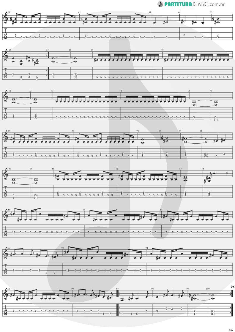 Tablatura + Partitura de musica de Guitarra Elétrica - No Turning Back   Stratovarius   Destiny 1998 - pag 3