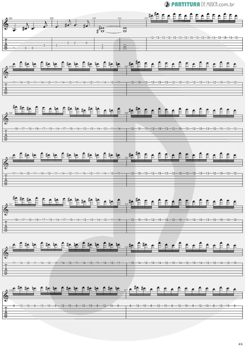 Tablatura + Partitura de musica de Guitarra Elétrica - No Turning Back   Stratovarius   Destiny 1998 - pag 4