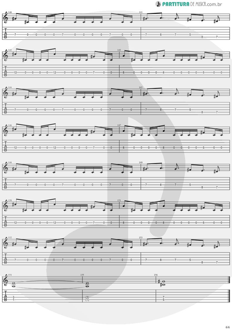 Tablatura + Partitura de musica de Guitarra Elétrica - No Turning Back   Stratovarius   Destiny 1998 - pag 6