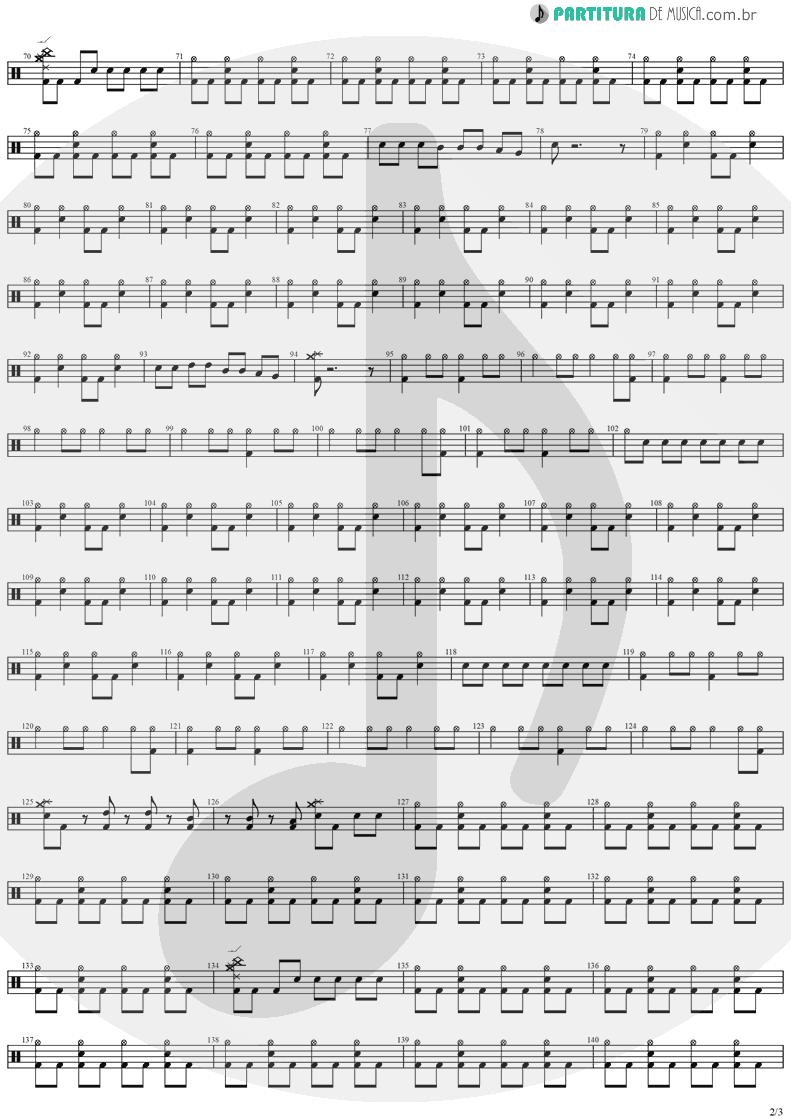 Partitura de musica de Bateria - SOS | Stratovarius | Destiny 1998 - pag 2