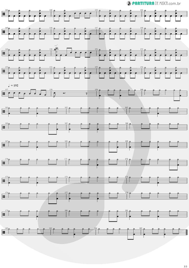 Partitura de musica de Bateria - SOS | Stratovarius | Destiny 1998 - pag 3