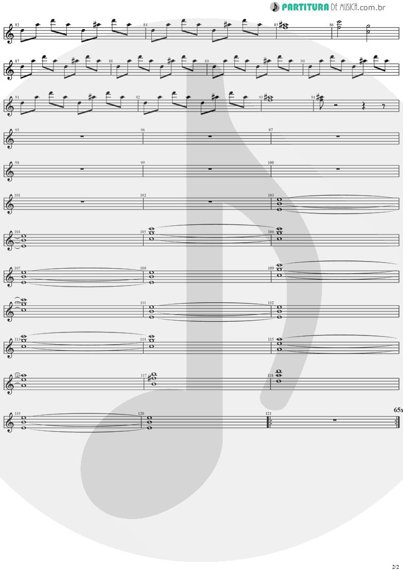 Partitura de musica de Guitarra Elétrica - SOS | Stratovarius | Destiny 1998 - pag 2