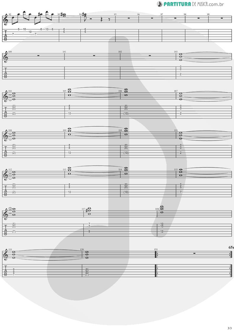 Tablatura + Partitura de musica de Guitarra Elétrica - SOS | Stratovarius | Destiny 1998 - pag 3