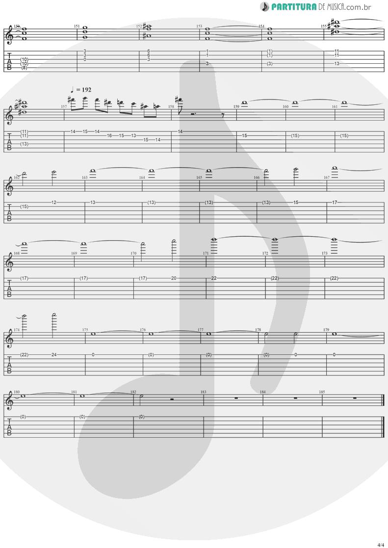Tablatura + Partitura de musica de Guitarra Elétrica - SOS | Stratovarius | Destiny 1998 - pag 4