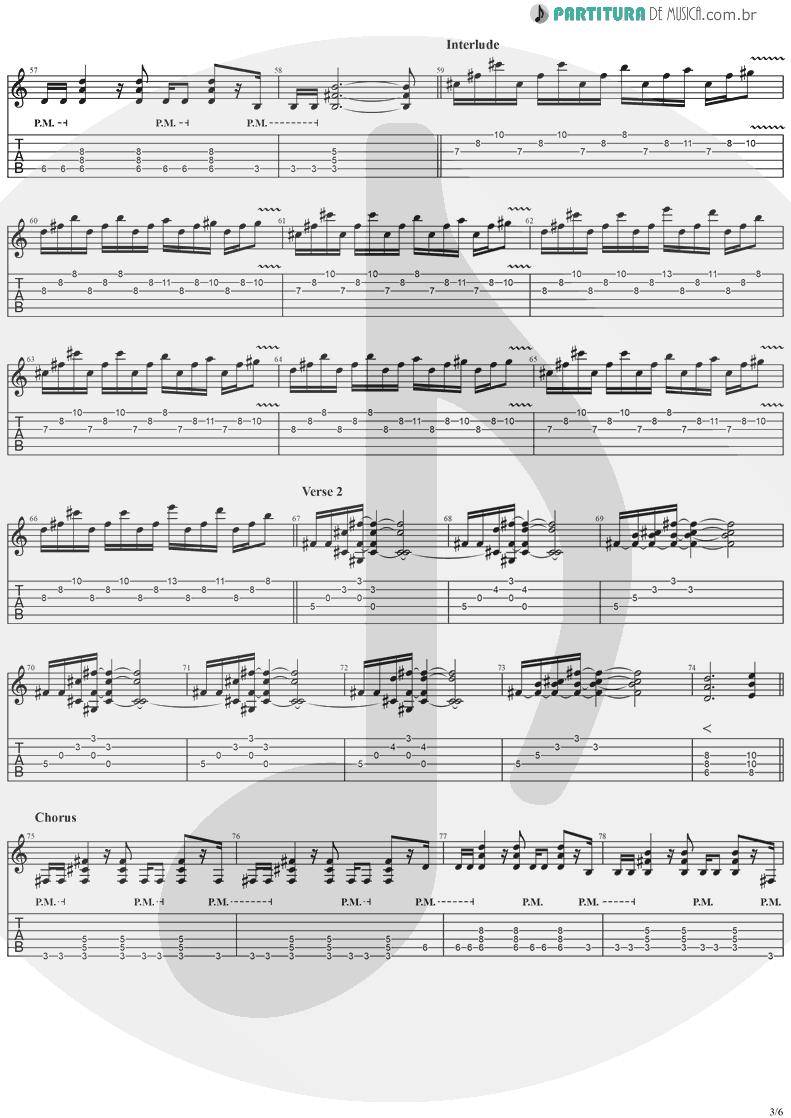 Tablatura + Partitura de musica de Guitarra Elétrica - Dreamweaver   Stratovarius   Elements, Pt. 2 1998 - pag 3