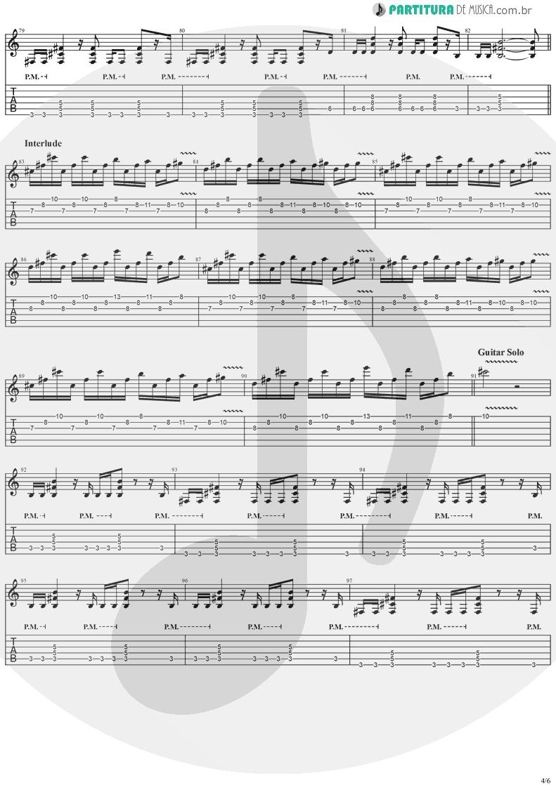 Tablatura + Partitura de musica de Guitarra Elétrica - Dreamweaver   Stratovarius   Elements, Pt. 2 1998 - pag 4