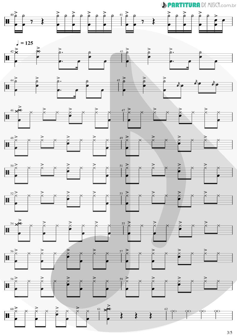 Partitura de musica de Bateria - Chop Suey! | System Of A Down | Toxicity 2001 - pag 3