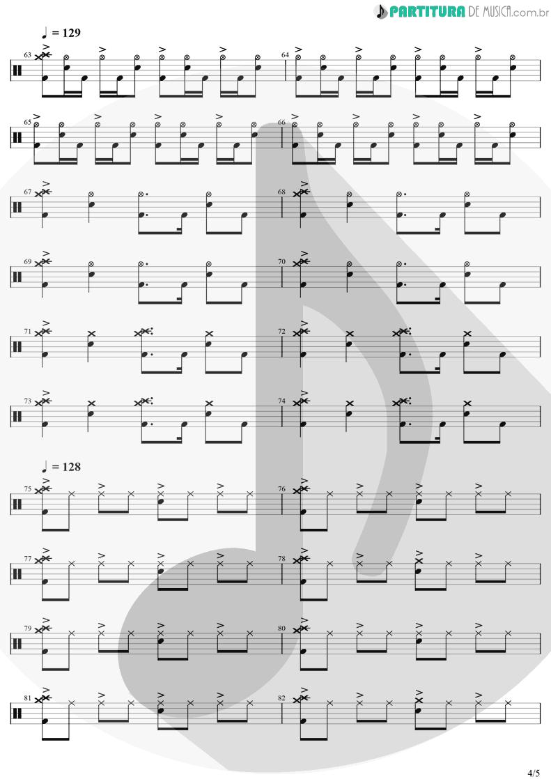 Partitura de musica de Bateria - Chop Suey! | System Of A Down | Toxicity 2001 - pag 4