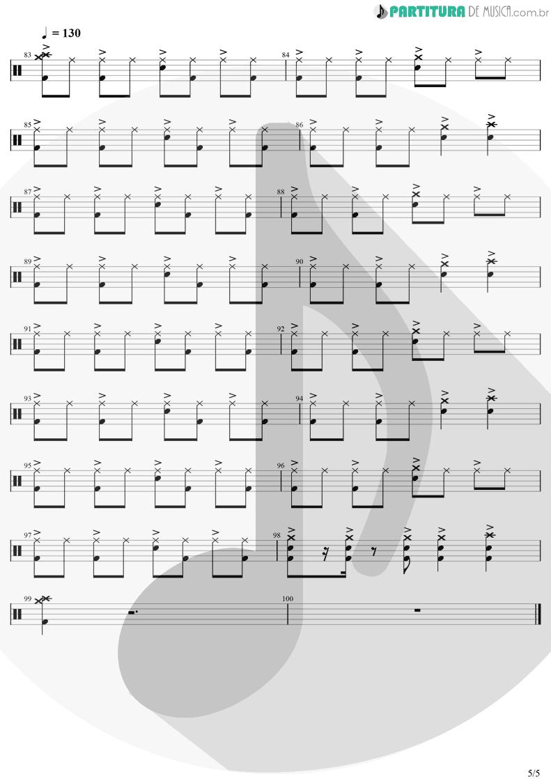 Partitura de musica de Bateria - Chop Suey! | System Of A Down | Toxicity 2001 - pag 5