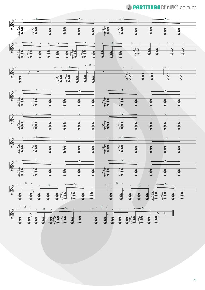Partitura de musica de Guitarra Elétrica - Toxicity | System Of A Down | Toxicity 2001 - pag 6