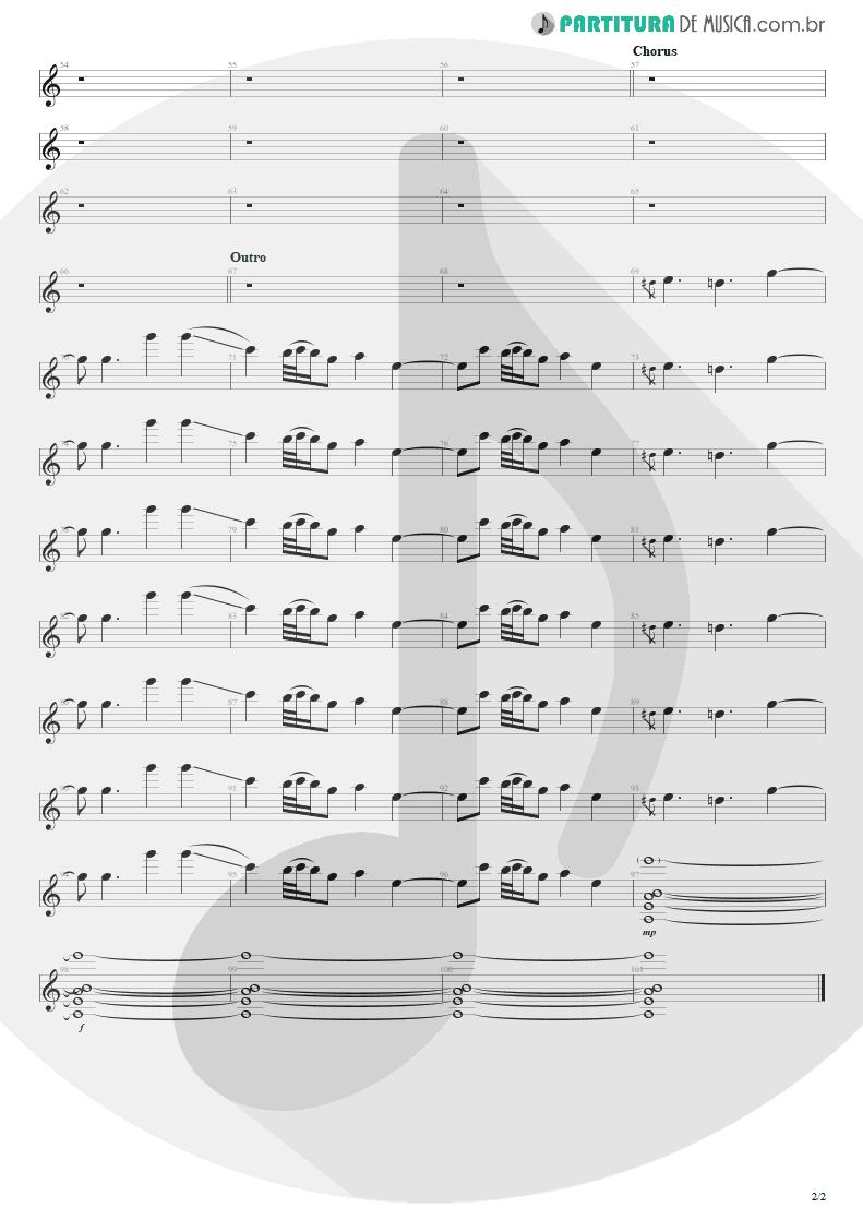 Partitura de musica de Guitarra Elétrica - Head Over Heels | Tears for Fears | Songs from the Big Chair 1985 - pag 2