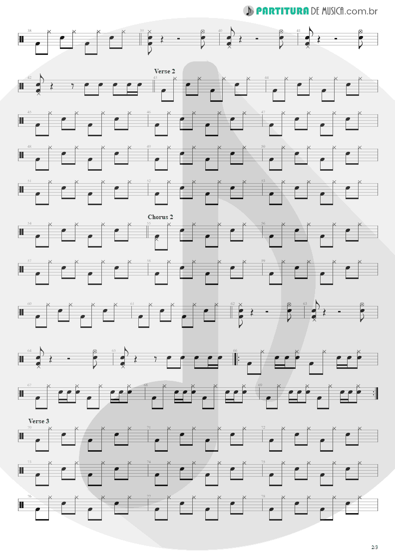 Partitura de musica de Bateria - Pale Shelter   Tears for Fears   Tears Roll Down - Greatest Hits 82-92 1992 - pag 2