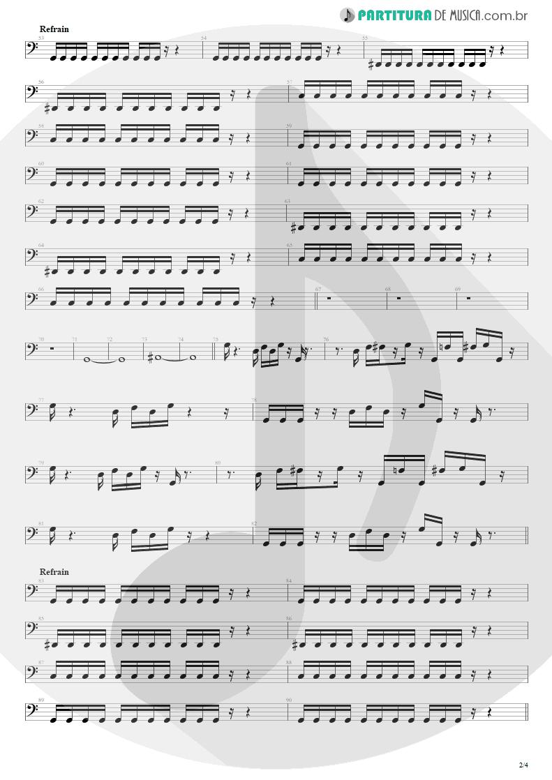 Partitura de musica de Baixo Elétrico - Shout | Tears for Fears | Tears Roll Down - Greatest Hits 82-92 1992 - pag 2