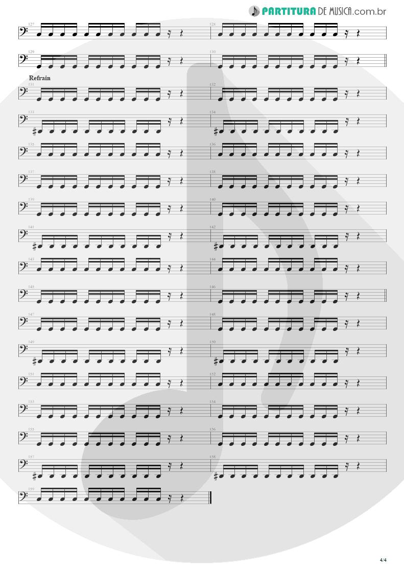 Partitura de musica de Baixo Elétrico - Shout | Tears for Fears | Tears Roll Down - Greatest Hits 82-92 1992 - pag 4