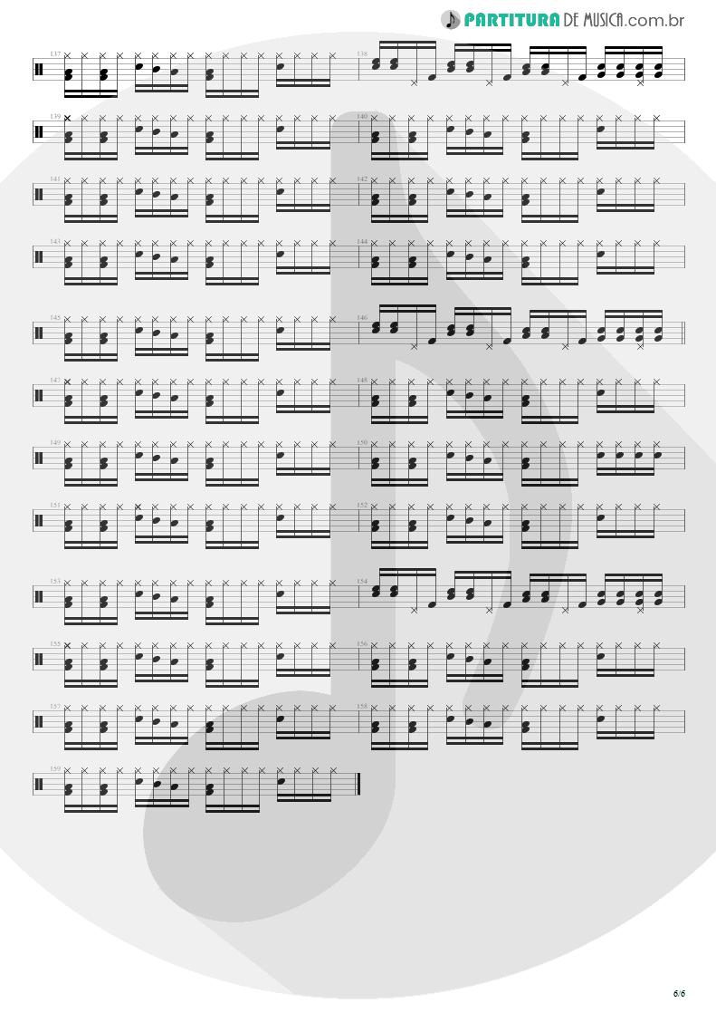 Partitura de musica de Bateria - Shout | Tears for Fears | Tears Roll Down - Greatest Hits 82-92 1992 - pag 6