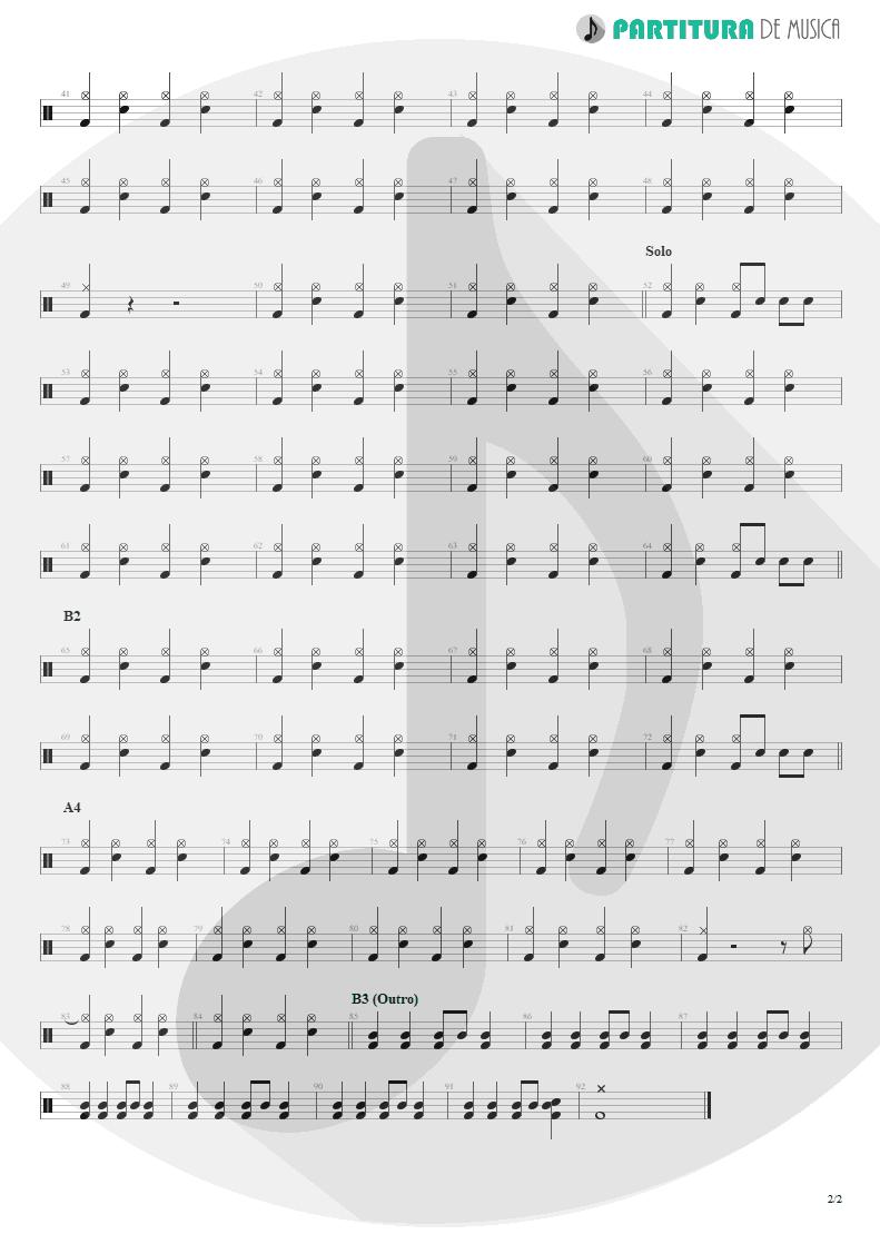 Partitura de musica de Bateria - Can´t Buy Me Love | The Beatles | A Hard Day's Night 1964 - pag 2