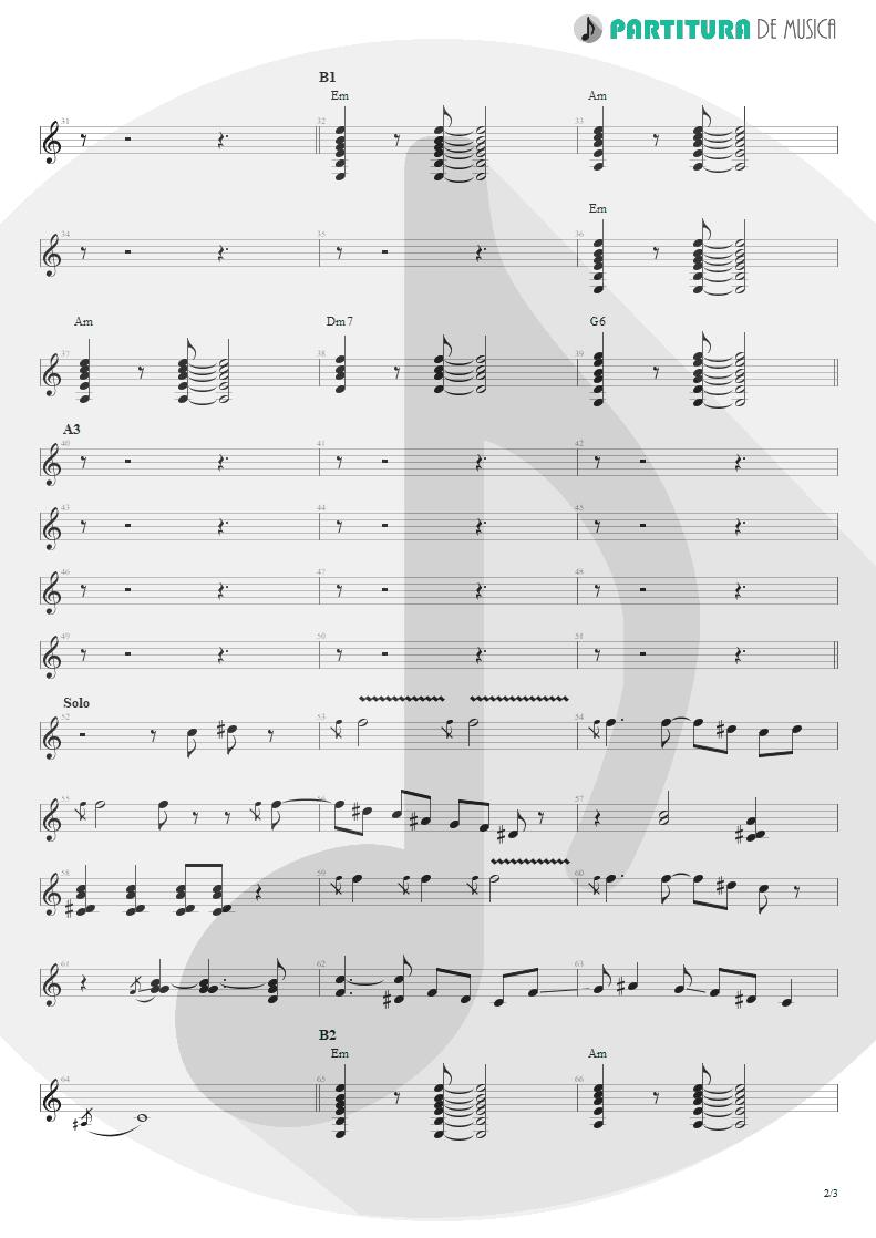 Partitura de musica de Guitarra Elétrica - Can´t Buy Me Love | The Beatles | A Hard Day's Night 1964 - pag 2