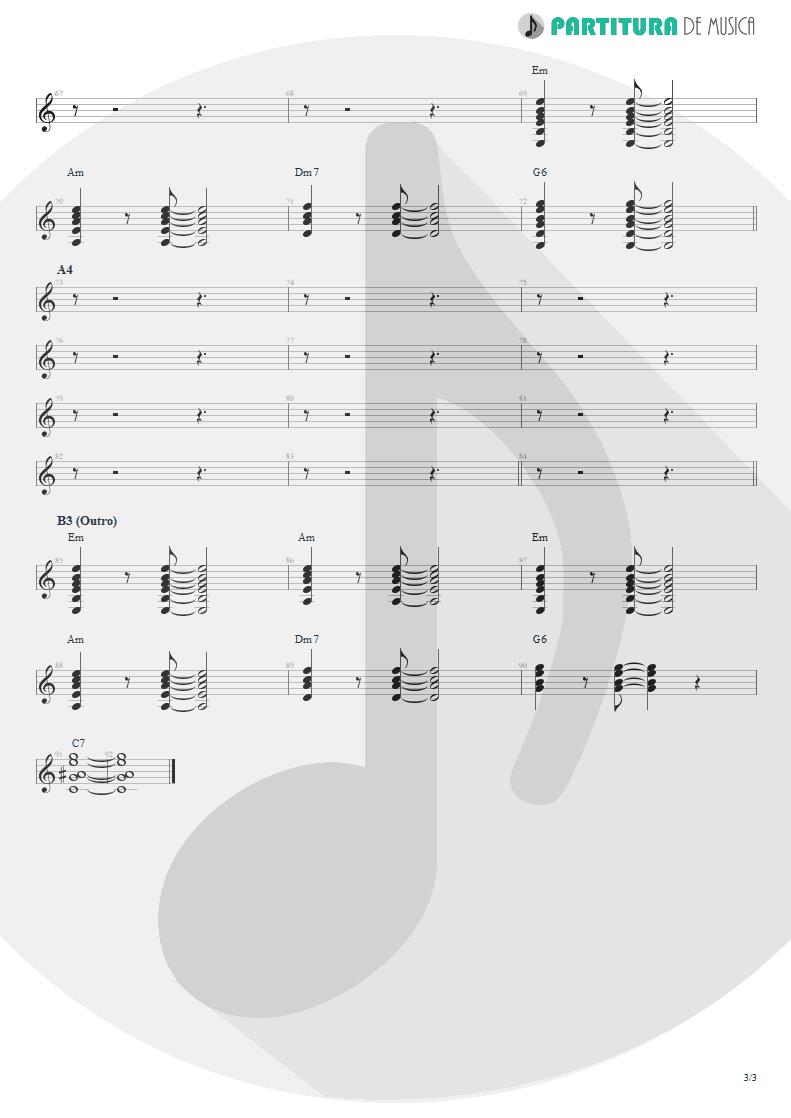 Partitura de musica de Guitarra Elétrica - Can´t Buy Me Love | The Beatles | A Hard Day's Night 1964 - pag 3