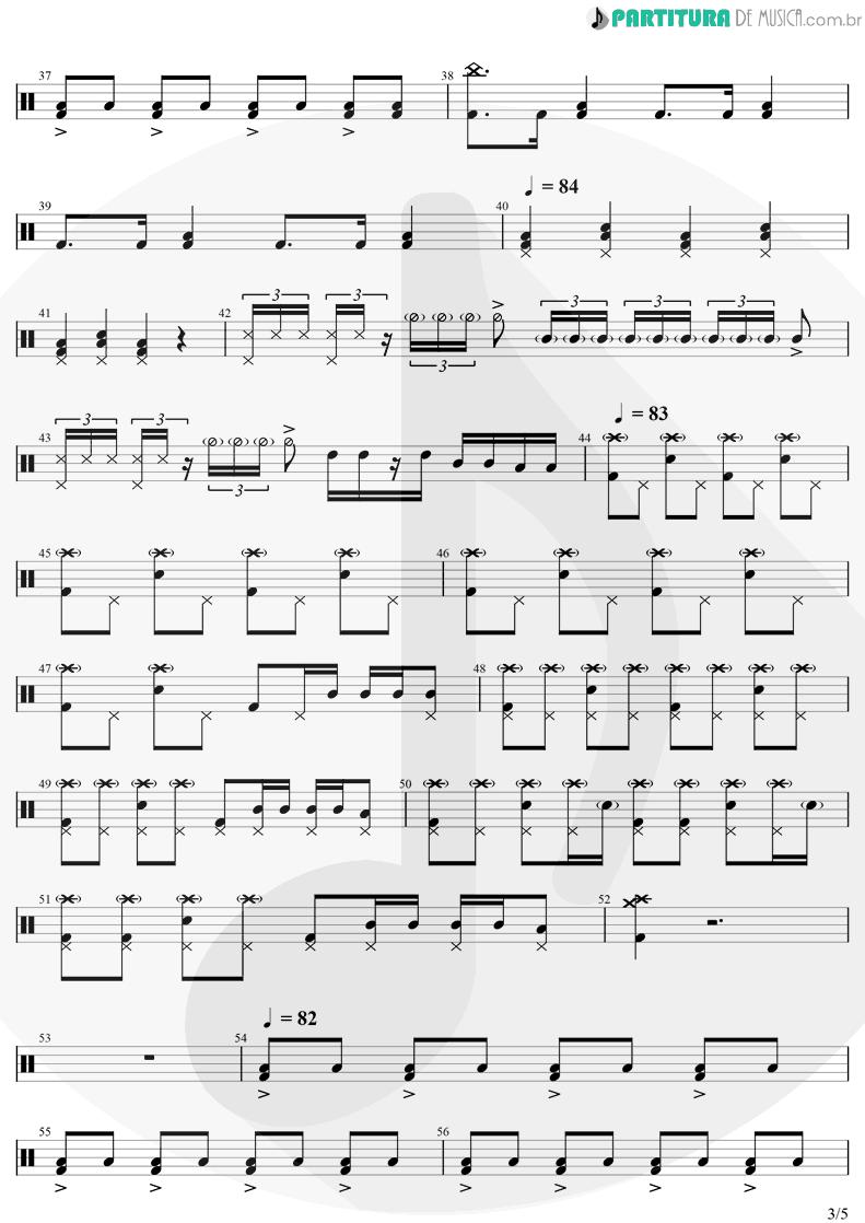Partitura de musica de Bateria - Come Together | The Beatles | Abbey Road 1969 - pag 3