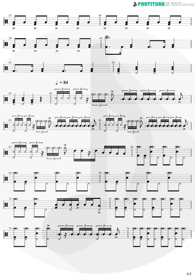 Partitura de musica de Bateria - Come Together | The Beatles | Abbey Road 1969 - pag 4