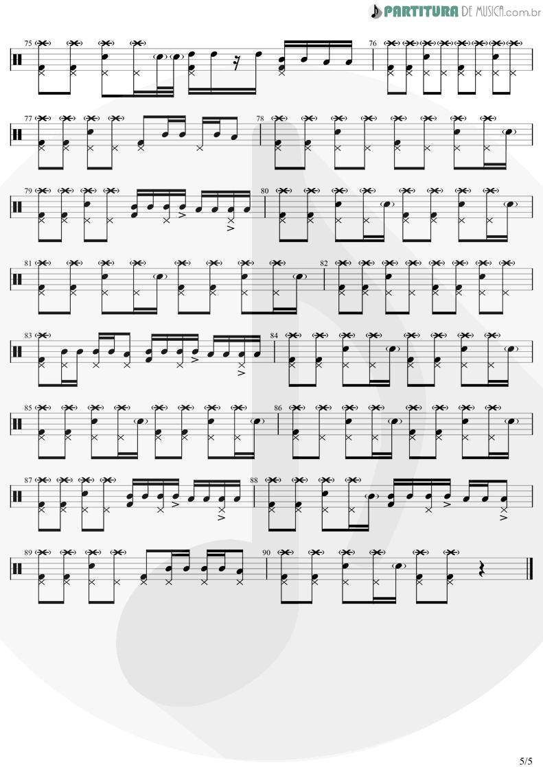 Partitura de musica de Bateria - Come Together | The Beatles | Abbey Road 1969 - pag 5