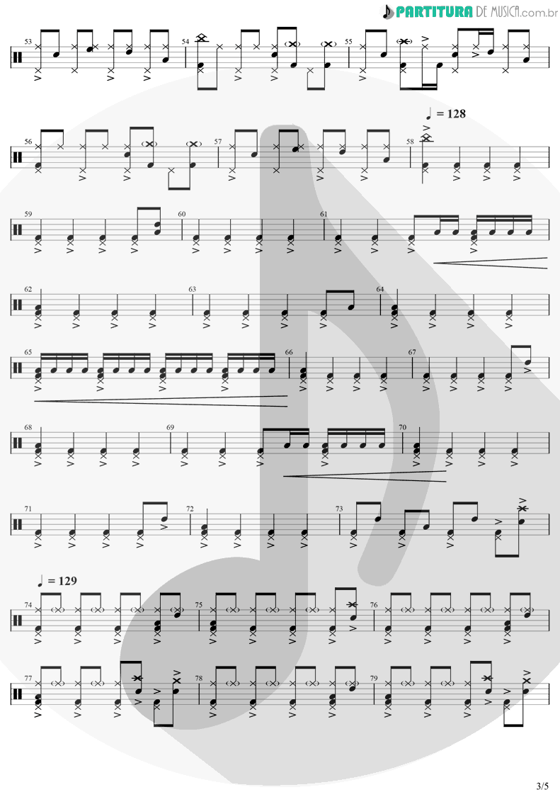 Partitura de musica de Bateria - Dreams | The Cranberries | Everybody Else Is Doing It, So Why Can't We? 1993 - pag 3
