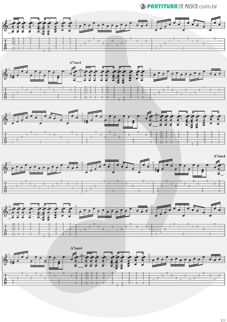 Tablatura + Partitura de musica de Guitarra Elétrica - I Still Do | The Cranberries | Everybody Else Is Doing It, So Why Can't We? 1993 - pag 2