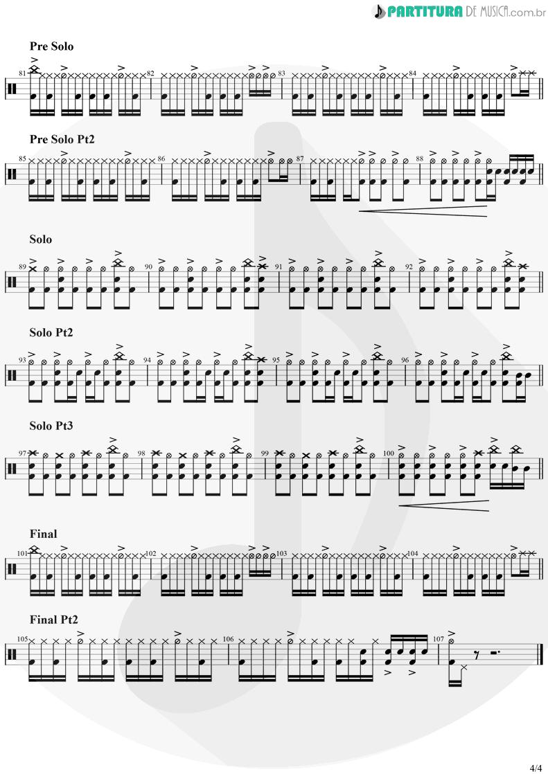 Partitura de musica de Bateria - Zombie | The Cranberries | No Need to Argue 1994 - pag 4