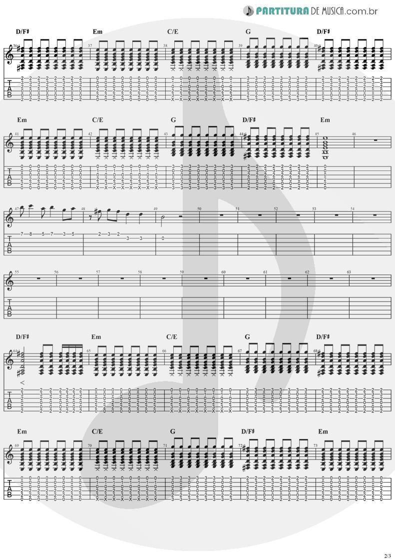 Tablatura + Partitura de musica de Guitarra Elétrica - Zombie   The Cranberries   No Need to Argue 1994 - pag 2