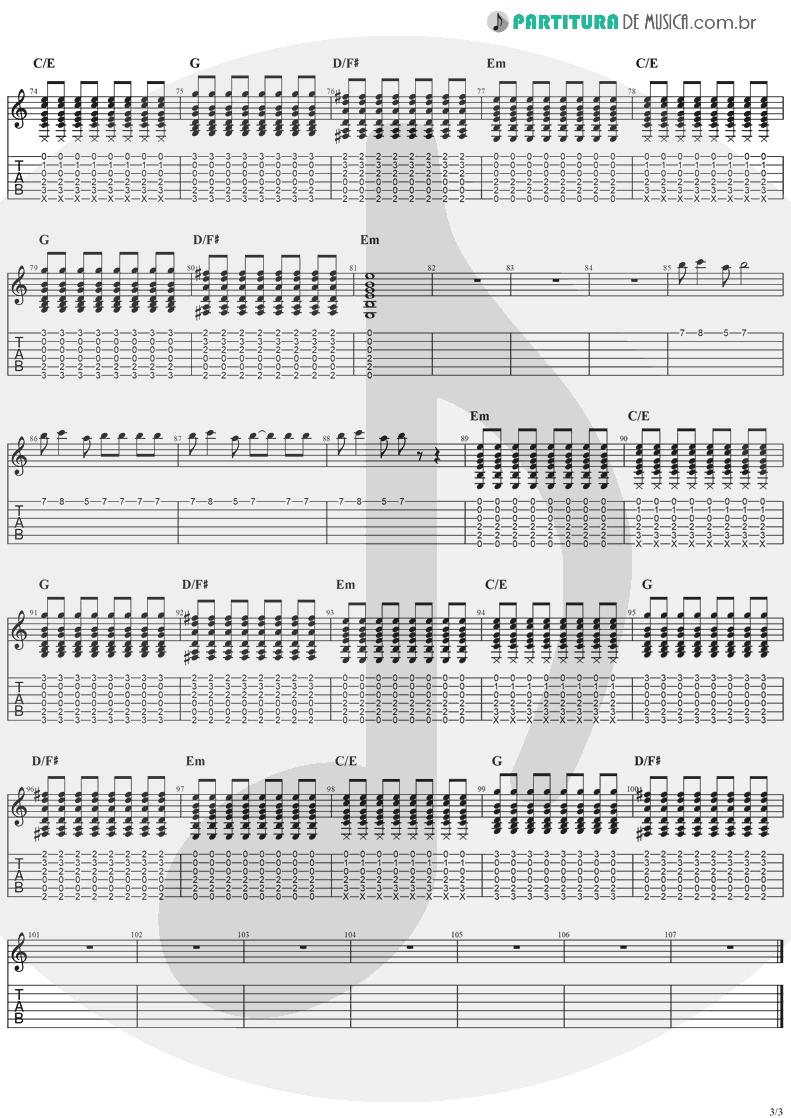 Tablatura + Partitura de musica de Guitarra Elétrica - Zombie   The Cranberries   No Need to Argue 1994 - pag 3