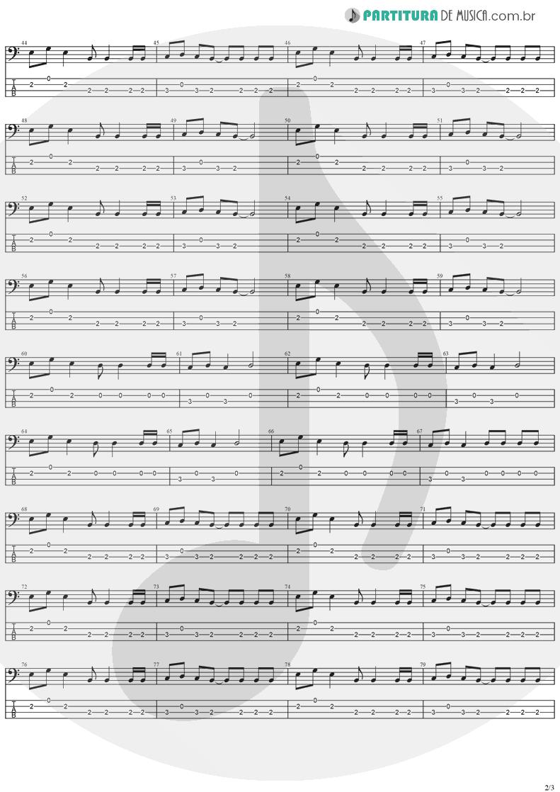 Tablatura + Partitura de musica de Baixo Elétrico - Electric Blue   The Cranberries   To the Faithful Departed 1996 - pag 2