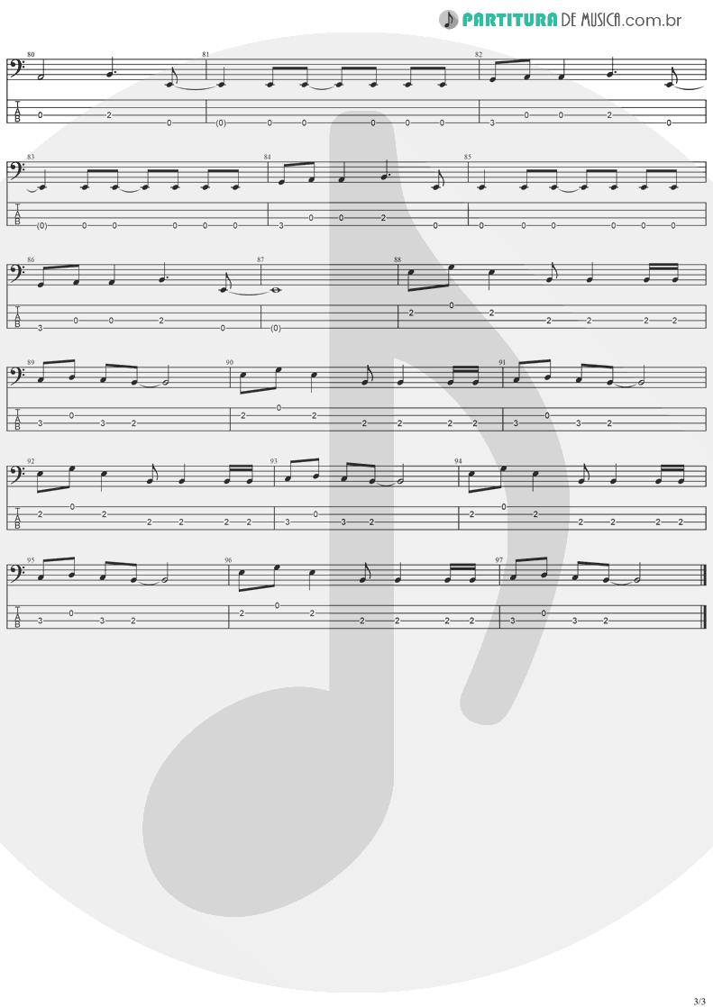 Tablatura + Partitura de musica de Baixo Elétrico - Electric Blue   The Cranberries   To the Faithful Departed 1996 - pag 3