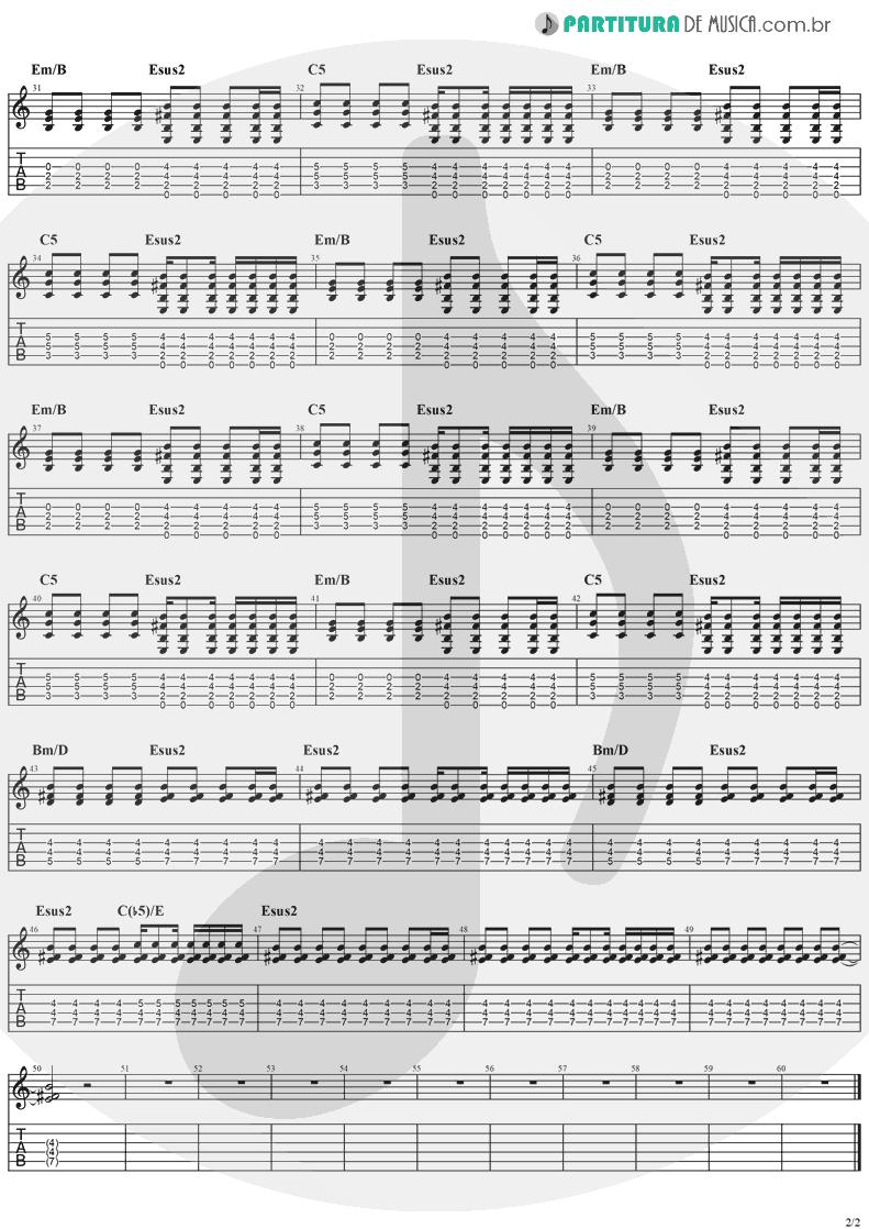 Tablatura + Partitura de musica de Guitarra Elétrica - Electric Blue | The Cranberries | To the Faithful Departed 1996 - pag 2