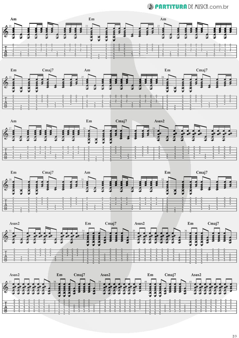 Tablatura + Partitura de musica de Guitarra Elétrica - Hollywood | The Cranberries | To the Faithful Departed 1996 - pag 2