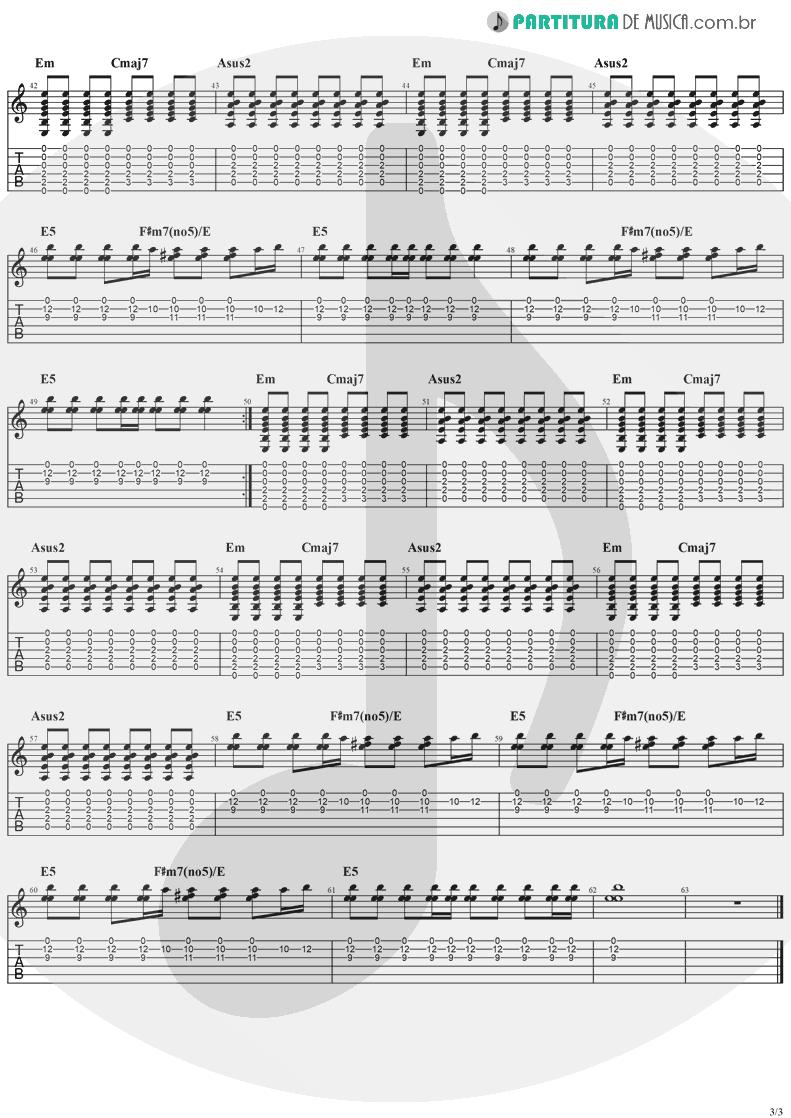 Tablatura + Partitura de musica de Guitarra Elétrica - Hollywood | The Cranberries | To the Faithful Departed 1996 - pag 3