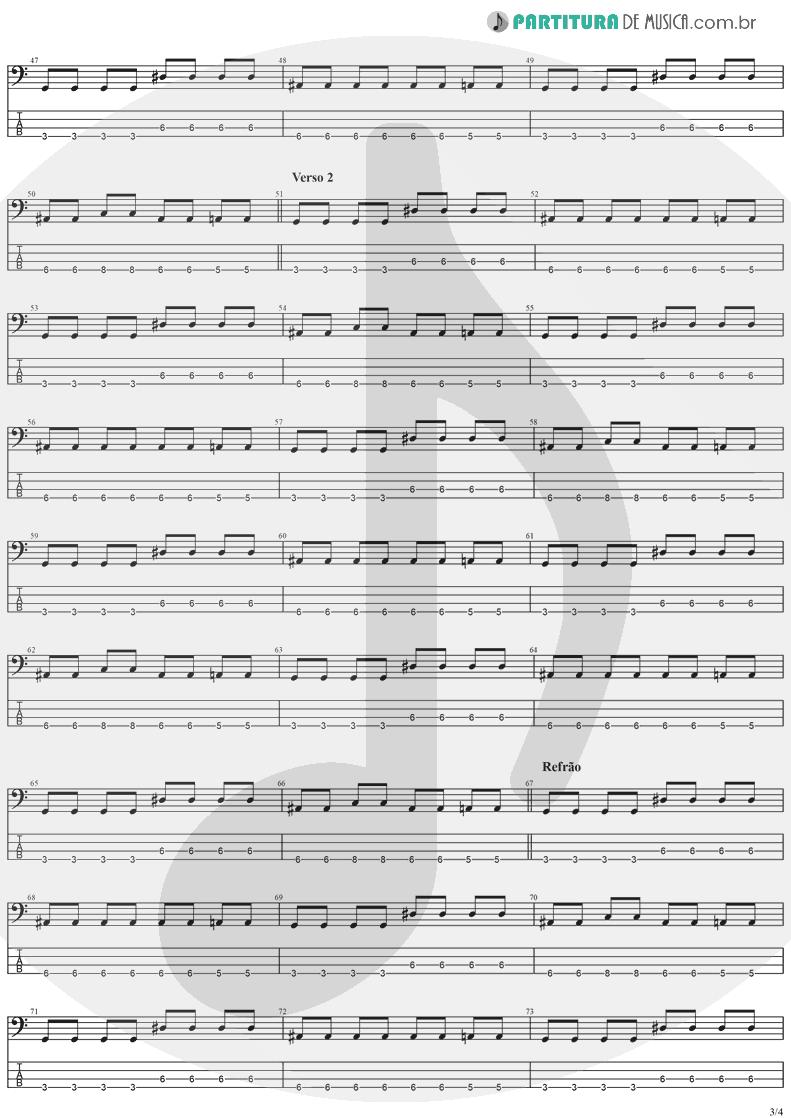 Tablatura + Partitura de musica de Baixo Elétrico - Salvation   The Cranberries   To the Faithful Departed 1996 - pag 3